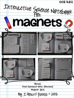 4.P.1 MAGNETS INTERACTIVE SCIENCE NOTEBOOK & MORE - TeachersPayTeachers.com