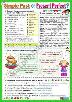 Simple Past or Present Perfect? - ESL worksheet by