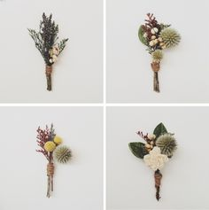 rustic boutonnieres. simple and masculine. #rustic #wedding #country