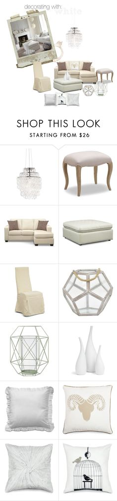 shabby white by valuecityfurn on Polyvore featuring interior, interiors, interior design, home, home decor, interior decorating, Dot & Bo, Bloomingville and Mitchell Gold + Bob Williams
