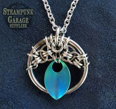 X1 KIT - Oracle Pendant - Kit and Tutorial included!  Original chainmaille design