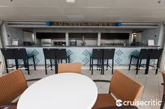 Solarium Bar (Deck 9): The adults-only Solarium has its own bar, although we rarely saw anyone here. It's convenient if you want to stay within the confines of the Solarium, which is almost always covered, despite having a retractable roof.
