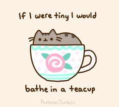 If I were tiny I would bathe in a teacup