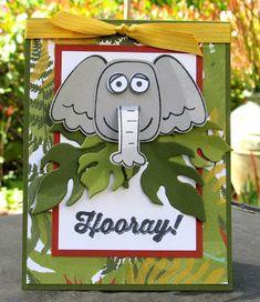 Krystal's Cards: Stampin' Up! Playful Pals Jungle Elephant #stampinup #krystals_cards #playfulpals #onlinecardclass