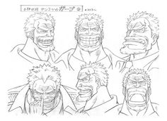 Water 7, Water Seven. Vice Admiral Garp model sheet, Character design, Official reference, Settei --- Picking nose Anime One Piece, One Piece Nami, Character Sheet, My Character, Universidad Ideas, Manga Anime, Sasuke Uchiha Sharingan, One Piece Chapter, One Piece Drawing