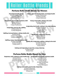 Perfume Roller Bottle Blends