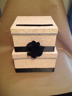 Lace and Sparkle?? SO Doing this for the reception! How to Make a Wedding Card Box