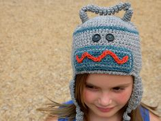 Ravelry: Mr. Springy, the Robot Dude Hat (with earflaps) pattern by Darleen Hopkins
