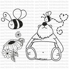 """Fred von SOHO - Wir sehen uns an der Nähmaschine-Applikationsvorlage """"BEE in love"""""""