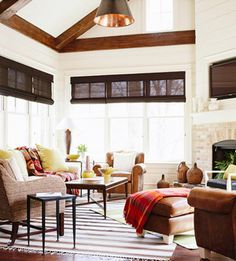 Comfortable Family Rooms Nautical Family Rooms And Barrel Ceiling