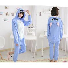 Stitch Cheap Onesies Kigurumi Sleep Suit Huispak Blue