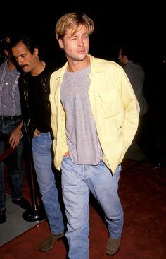 """""""Brad Pitt, un hombre de elegancia atemporal"""" 1991 - VOGUE.mx"""