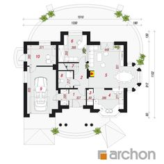 Dom w wiciokrzewie Village House Design, House Front Design, Village Houses, 4 Bedroom House Plans, Architectural House Plans, American Houses, Sims House, Design Case, Future House