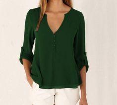 Long Sleeve Chiffon T Shirts
