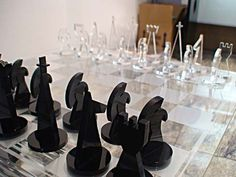 Jogo de xadrez em acrílico Laser Cutting, Diy, Gifts, Design, Gingham, Game, Mugs, Manualidades, Presents