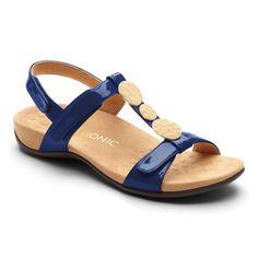 f4e1f24525 Vionic Rest Farra - Women's Supportive Sandals Black Patent - 6.5 Medium