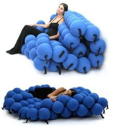 Feel Seating System: Inspired by molecular structure.  Great for a guest room/studio/office.