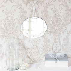 Specchio inciso H 30 cm HORTENSE