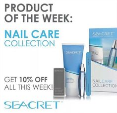 #Productoftheweek #Seacret #NailCare #Collection Bring the power of professional nail care to your fingertips #Beauty #Cuticles #Special #Nailbuffer #Manicure #Deadseaminerals #Linkinmyprofile