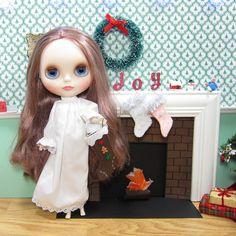 Miniature Blythe doll Christmas stocking gingerbread boy