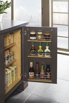 Our Base Easy Access Storage Cabinet has door rack storage that adds an additional area for easy retrieval of often used items.