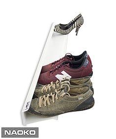 NAOKO.cz - Police na boty <br>J-ME Shoe Rack, 70cm, bílá