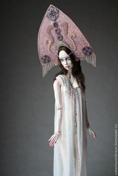 Купить Зимняя Ночь - серебряный, шарнирная кукла, бжд, bjd, кукла, скульптура, ночь, зима