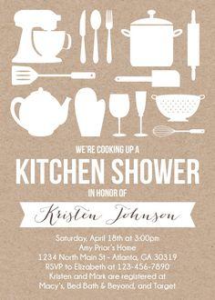 Printable Kraft Kitchen Shower Invitation by RusticAvenueDesigns