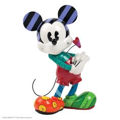 4030813 Mickey with Heart Figurine- Disney by Britto captures the fun and whimsy of Disney in the iconic, bold and colourful designs of Romero Britto #collectable #disney #britto