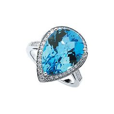 Zocorra Chelsea Blue Topaz Ring