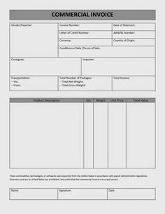 commercial invoice fedex fedex commercial invoice form invoice, Invoice examples