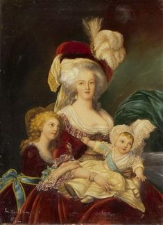 A portrait of Marie Antoinette and her children, after a painting by Elisabeth Vigee-Lebrun source: MutualArt.com