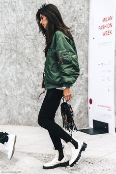 An Incredibly Cool Bomber Jacket Look To Try Now