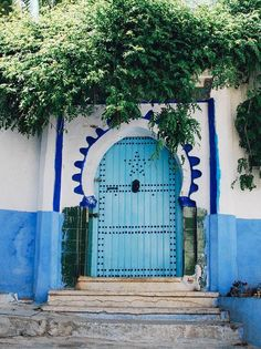 the all-blue town of Chefchaouen in Morocco