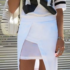 Sports luxe skirt