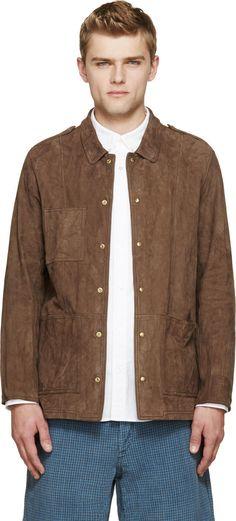 Image of Visvim Brown Nubuck Sundance Jacket