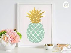 20 Beautiful Gold Pineapples for Home Decor via TheKimSixFix.com
