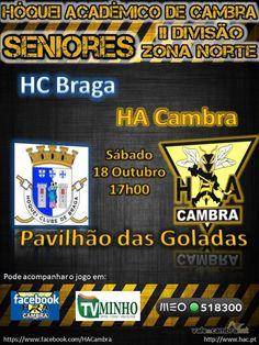 Hóquei em Patins: HC Braga vs HA Cambra > 18 Out 2014, 17h @ Braga  _II Divisão Zona Norte_  #HoqueiPatins