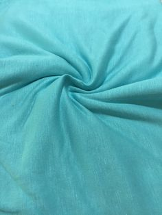 Seaglass Blue Green Solid Knit Fabric Rayon Jersey