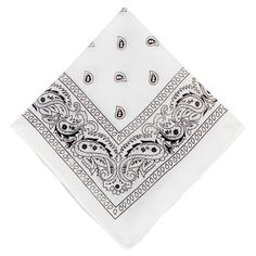 This White Bandana has so many uses, we hardly know where to start! Our White Bandana has a classic paisley pattern and measures square. Paisley Pattern, Paisley Print, Elastic Thread, Halloween Costume Shop, Kids Party Supplies, Bandana Print, Age, Diy Face Mask, Face Masks