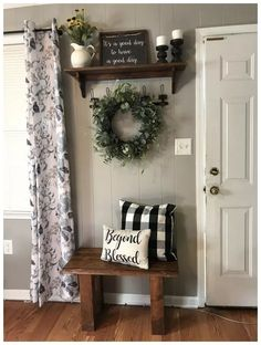 living room decor 44 top farmhouse living room makeover decor ideas 4 be harmful to Living Room Colors, Living Room Designs, Bench In Living Room, How To Decorate Living Room Walls, Living Room Wall Decor Diy, Decorating Ideas For The Home Living Room, Living Room Decorations, Loving Room Decor, Living Rooms