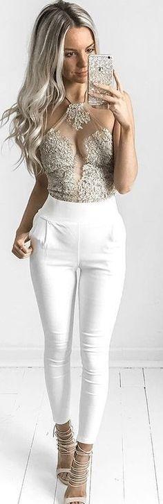 #summer #feminine #outfits | Star Dust Crop + High Revolution Pants