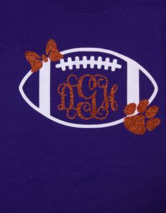 Monogram Preppy Clemson Football Shirt...can by BurlapandLaceSC1