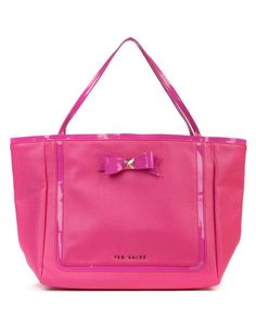 TED BAKER - CROSSHATCH Meteen Bow Shopper laukku | The Handbag Superstore
