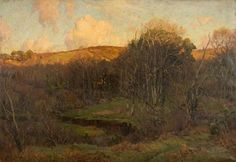 'Autumn at Lamorna, Cornwall' - John Noble Barlow, 1920; Cheltenham Art Gallery & Museum