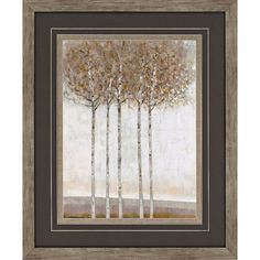"Early Fall II 35"" High Framed Wall Art (265 CAD) ❤ liked on Polyvore featuring home, home decor, wall art, grey, autumn tree wall art, grey home decor, tree home decor, abstract wall art and distressed wood wall art"