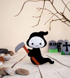 Pequeña muerte parca Halloween adornos favorece la espeluznante peluche colgante decoración espeluznante Ángel de la muerte de regalo Halloween miedo del fantasma