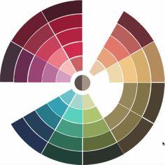 Deep/dark/shaded Autumn Color Wheel