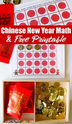 Chinese New Year Red Envelope Math Activity and Free Printable for Kids -