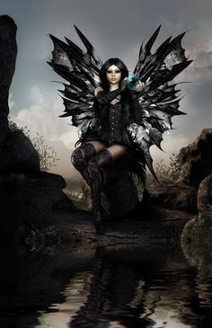 Dark Fairy Fantasy Art | black magic fairy by capergirl42 digital art 3 dimensional art ...